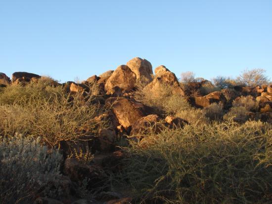 Tibooburra, Australia: View of granite boulders at the camp site