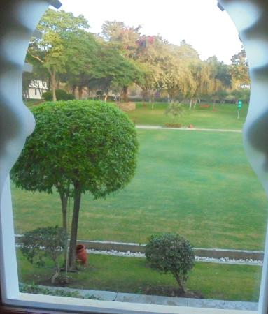 View of the grounds from our window -sadly not as nice inside