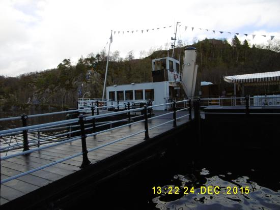 Loch Lomond and The Trossachs National Park, UK: Jetty on Lake with SS Sir Walter Scott