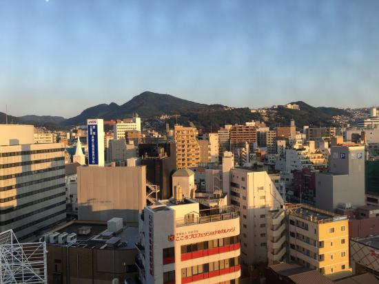 Hotel New Nagasaki: View of the city from the room.