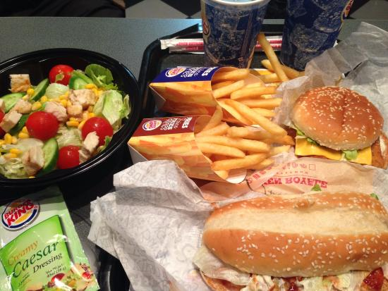 Chicken Royale Meal King Chicken Salad Picture Of Burger King