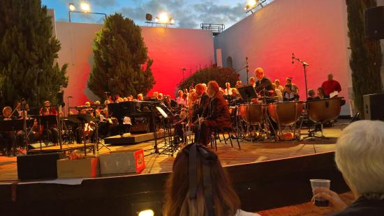 Oude Libertas Amphitheatre : The Orchestra preparing