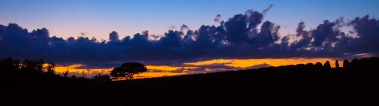 B&B Casa Certosa: A photo of the sunset taken from our balcony