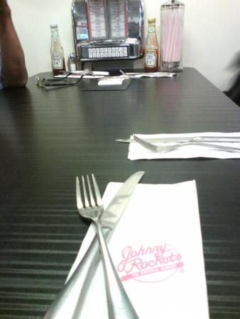 This the American Standard of Table Setting? - Picture of Johnny ...