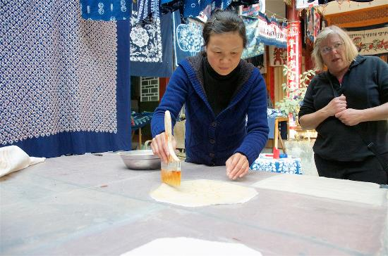 Zhoucheng Village: Tye Dye fabric in Zhoucheng