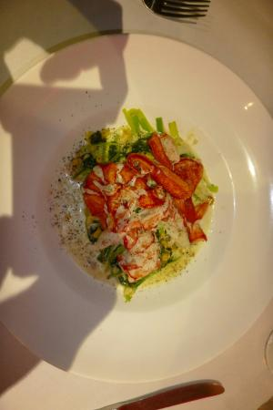 Piermont, Nova York: Salmon with risotto and my buttery lobster
