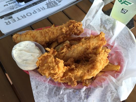Fish and chips picture of rick 39 s reef st pete beach for Rick s fish and pet