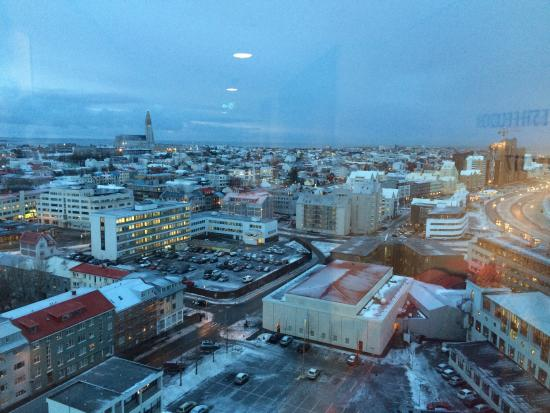 Fosshotel Reykjavik: view from corridor window