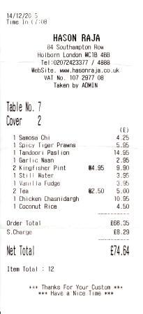 Hason Raja Restaurant Reviews