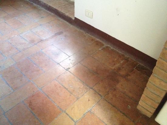 Fattoria San Donato: Pavimento: si noti la scarsa pulizia