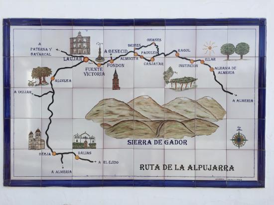 Laujar de Andarax, สเปน: Map of the region