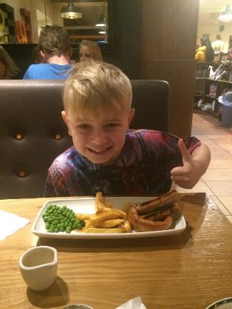 Barlborough, UK: Kids meal