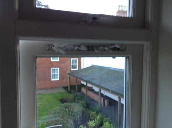 Brandon, UK: Dirty tissues in lieu of window vent
