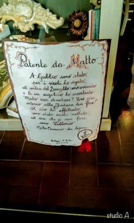 Fontana del Bargello: La patente...