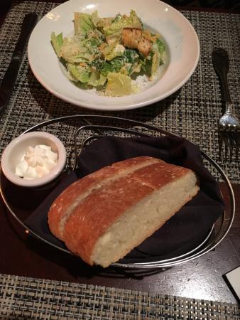 hot bread w butter plus caesar salad picture of mccormick rh tripadvisor com