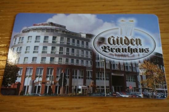 Brauhaus Von Außen Auf Einer Kleinen Visitenkarte Picture