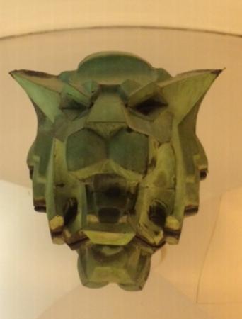 The Wolfsonian - Florida International University: mask (there are 2) inside the elevator