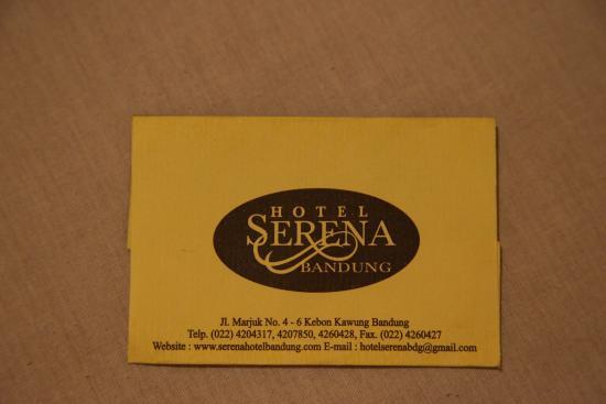 Визитка Serena Hotel Bandung
