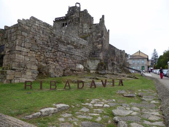 Ribadavia, สเปน: El castillo desde la carretera