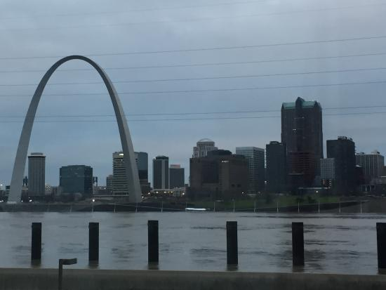 East Saint Louis, IL: View from a room on the river side of hotel