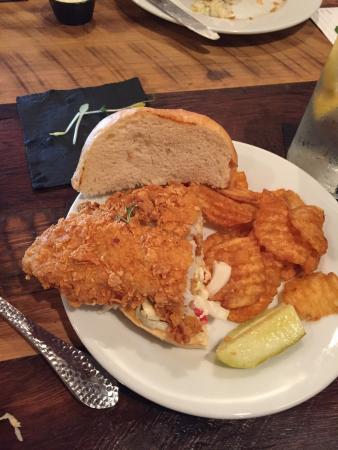 Leesburg, FL: Corn flake encrusted grouper