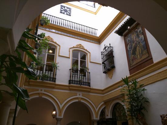 Hotel Abanico Sevilla The Inner Atrium Courtyard Of Casa