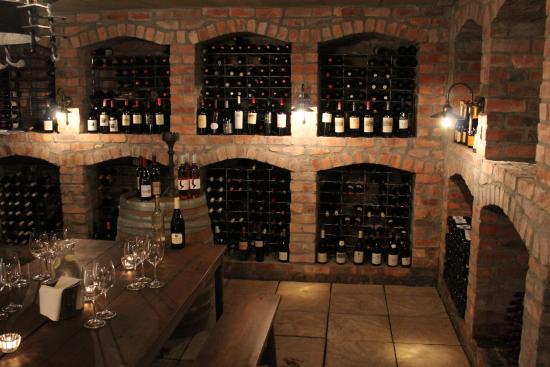 La Residence: wine cellar.