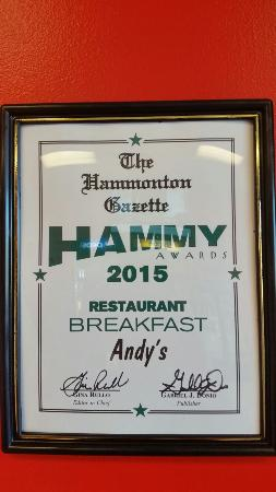 Hammonton, NJ: Andy's Pizza & Ristorante