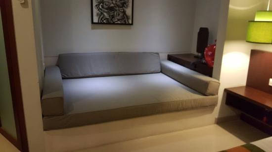 The huge sofa bed - Picture of Samaja Beachside Villas, Seminyak ...