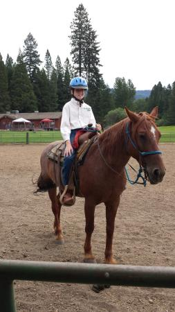 Greenhorn Creek Guest Ranch: getting ready to hit the trail
