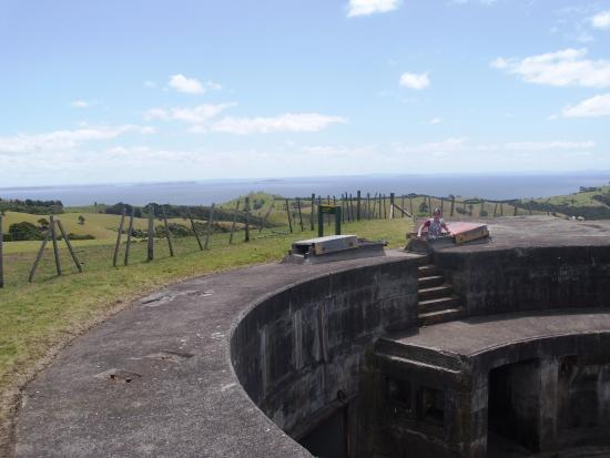 Waiheke Island, New Zealand: The cannon arena