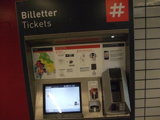 Sporveien T-Banen : 地下鉄の切符券売機2