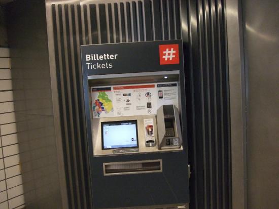 Sporveien T-Banen : 地下鉄の切符券売機1