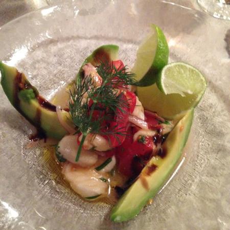 Hotel Frohe Aussicht : Salat von Seeteufel
