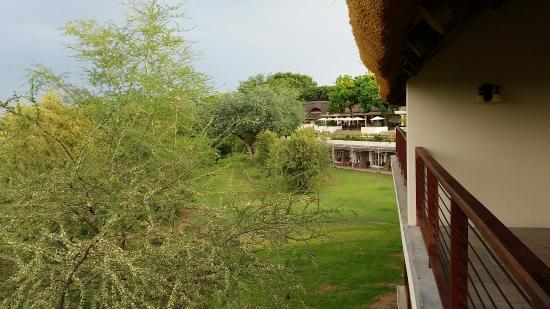 Ilala Lodge: View From Our Balcony towards the Main Lodge