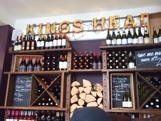 Wye, UK: great wine selection