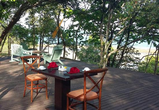 West Bali National Park, Indonesia: breakfast table for two