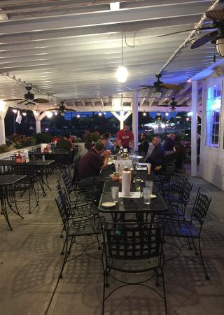Greater Good Barbecue: outdoor seating