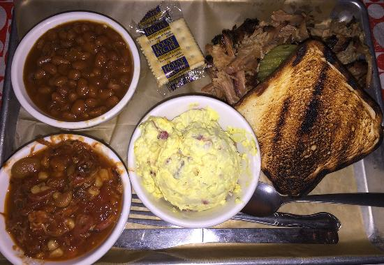 Greater Good Barbecue: Pulled pork plate