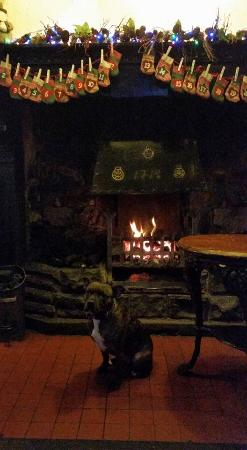 Tirril, UK: Cosy fire and atmosphere