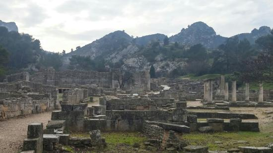 site archeologique de glanum photo de site arch ologique de glanum saint r my de provence. Black Bedroom Furniture Sets. Home Design Ideas