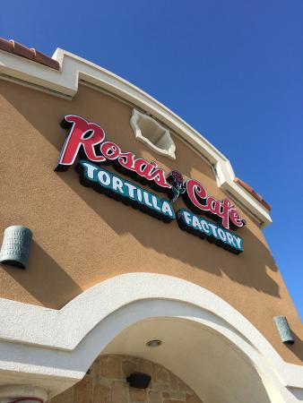 Rosa's Café & Tortilla Factory: Sign outside