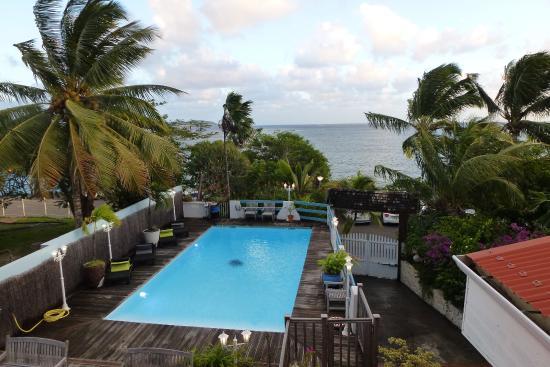 Ti Paradis: Vue depuis le balcon d'une chambre