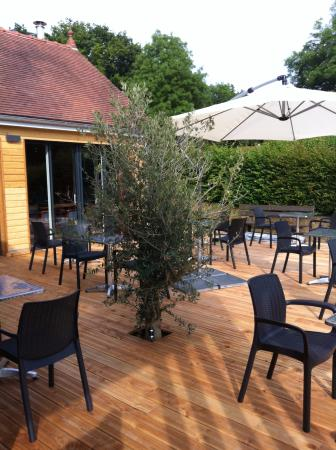 La Chatre, Frankreich: terrasse du restaurant Le Val Verre