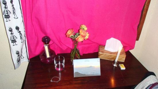 Moyoni Lodge : Chambre - table