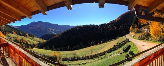 Haflingerhof: vista in panoramica dal balcone