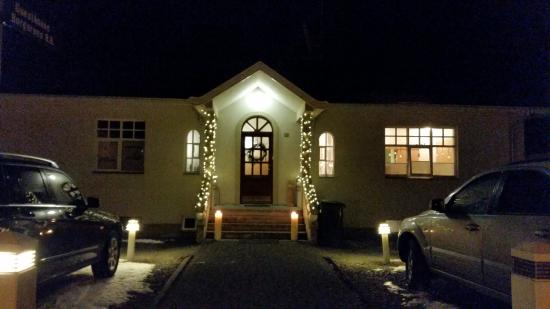 Borgarnes Bed & Breakfast: Our B&B during Christmas
