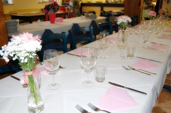 Campertogno, Italien: tavolata battesimo in rosa