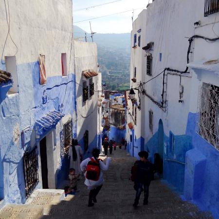 Street view down from Dar Zambra
