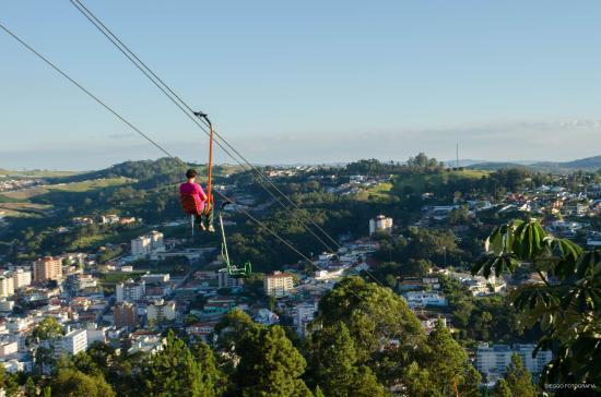 Serra Negra, RN: Vista do alto do Teleférico, é uma vista linda e vale a pena subir no Cristo.